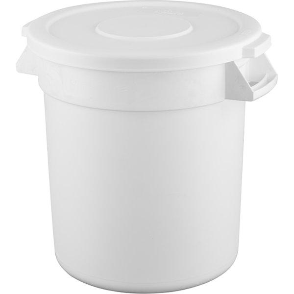 Waste Bin with Lid 40 litres White   Adexa XDW005