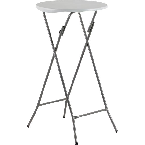 Folding Bar Table White Plastic Ø60cm | Adexa HQXY61