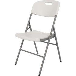 Set of 4 Folding Chairs White Plastic | Adexa HQY52