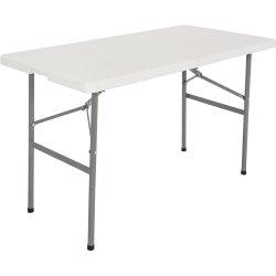 Folding Catering Table 4ft White Plastic | Adexa HQZ122