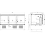 Saladette Open top 3 doors | Adexa S903STD