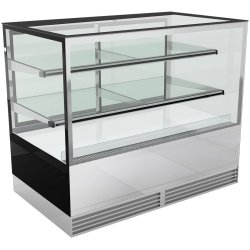 Cake counter 1000mm 2 shelves Mirror front LED | Adexa KTH107SF