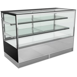Cake counter 1500mm 2 shelves Mirror front LED | Adexa KTH157SF
