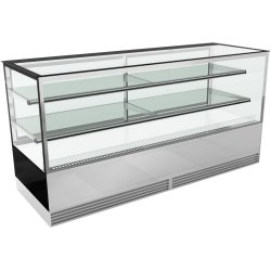 Cake counter 2000mm 2 shelves Mirror front LED | Adexa KTH207SF
