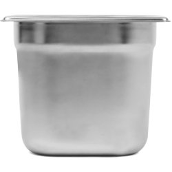 Stainless steel Gastronorm Pan GN1/6 Depth 150mm | Adexa E8016150-8166